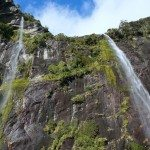 Water falling into the Fiord