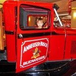 St Louis with kids: Restored beer deliver truck in the lobby