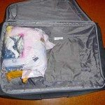 After compression, plenty of room left in suitcase