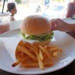 Wacko burger slider and fries for kids