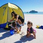 Beach tent supplied