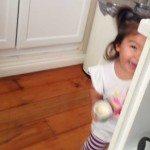 Cheeky girl, please don't drop that yoghurt