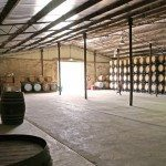 Wine barrels and running space