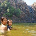 The pool at the base of Gunlom Falls