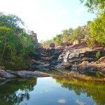 At the top of Gunlom Falls are a series of beautiful rock pools