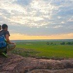 Waiting for the sunset at Ubirr