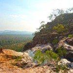 The cliff edge of Gunlom Falls