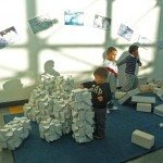 """There was a interactive """"snow"""" exhibit when we were there"""