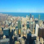 A pretty spectacular view from the top of Willis Tower (Sears)