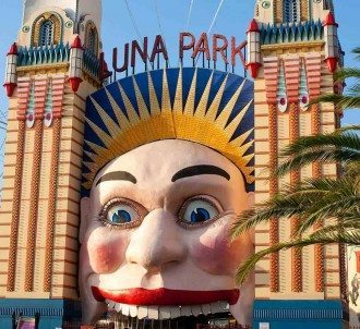 The summer smiling face of Luna Park Sydney