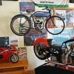 The smallest motorcycle musem in the world. Cafe Del Fuego. Dorrigo