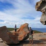 Remarkable Rocks, father and son