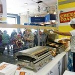 Lunchtime cheese toasties in the making, Woolies Pavilion Ekka 2015