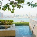 Frigid plunge pool and lap pool. Four Seasons Hotel Hong Kong.