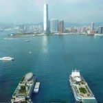 Spectacular harbour views from the Four Seasons Hotel Hong Kong