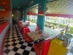 Family friendly booths, Bali Cosmic Diner
