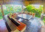 Gazebo seating for big groups. Il Gardino Bali.