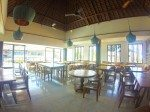 Restaurant seating at Mozzarella