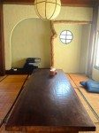 Tatami mats, there's also regular tables and chairs
