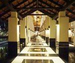 Evening stroll along Le Bar's corridor. Sofitel Sentosa Resort and Spa.
