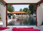 View from the shady cabana. Sofitel Singapore Sentosa Resort and Spa