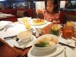 Famous buffet breakfast with kids cutlery and the tastiest soup broth ever!