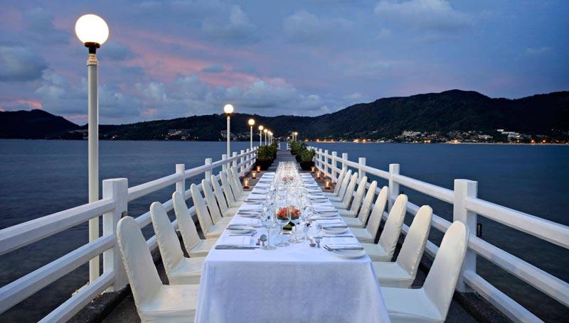 Amari Phuket dining on the private jetty