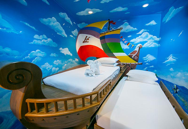 Katathani Phuket Beach Resort Family Suite Pirate room for kids