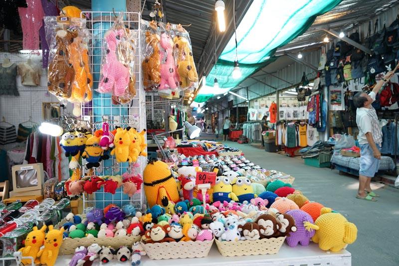 Pokemon crochet toys are just for kids! Phuket Weekend Market.