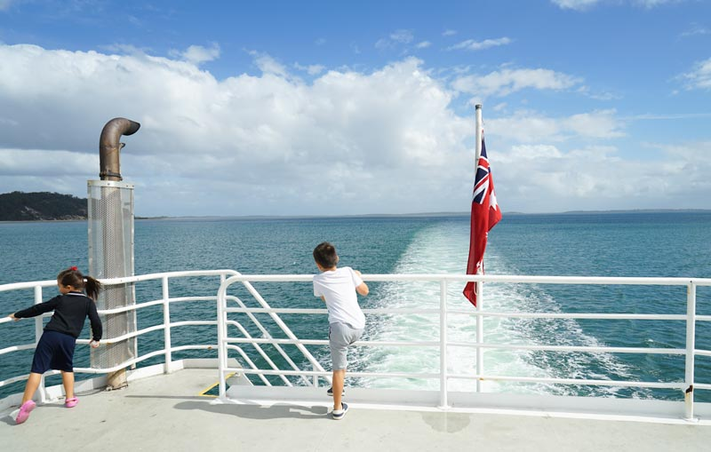 Crossing the Great Sandy Strait from River Heads on the Fraser Island Ferry