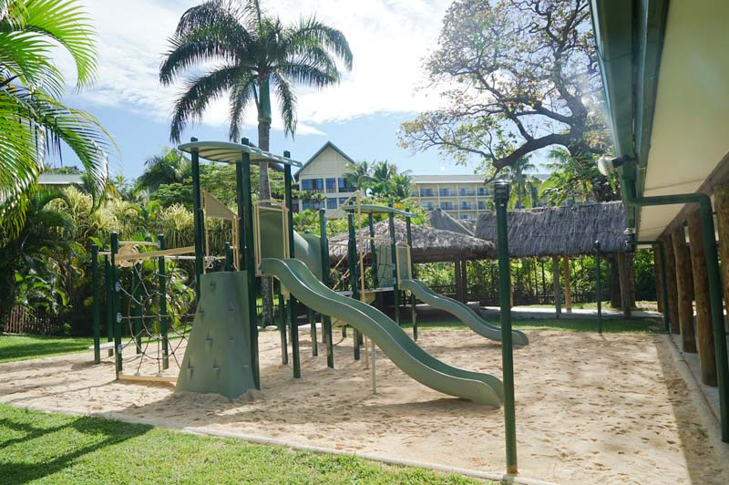 Playground at the Kids Club - though children spend most of their time out and about. Image: Outrigger Fiji Beach Resort. Fiji Family Holiday. Where to stay.