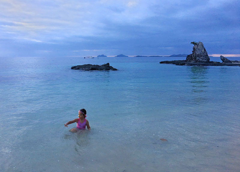 Swim from sunrise to sunset at Castaway Island's lagoon beach. Mamanuca Islands - Best Place to Stay in Fiji for Families. Beach. Monkey Rock
